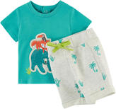 Catimini Graphic T-shirt and sportswear shorts
