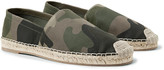 Valentino - Camouflage-print Canvas Espadrilles