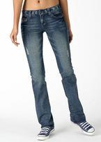 Delia's Reese Boston Wash Low-Rise Boot-Cut Jean