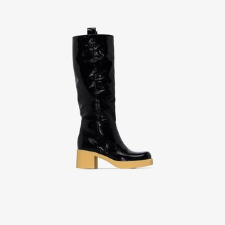 Miu Miu Black 60 Patent Leather Boots