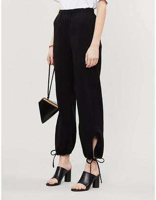 Georgia Alice Teardrop straight-leg high-rise crepe trousers
