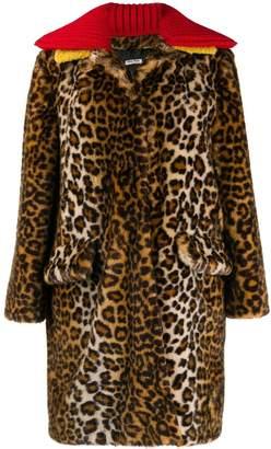 Miu Miu leopard pattern coat