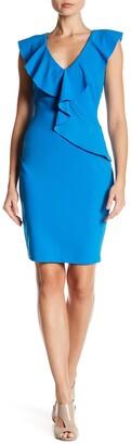 Alexia Admor Asymmetric Ruffle Sheath Dress