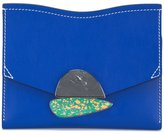 Proenza Schouler small Curl clutch - women - Calf Leather/Stone - One Size