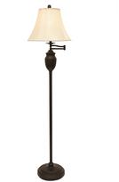 Black Wellington Steel Swing Arm Floor Lamp