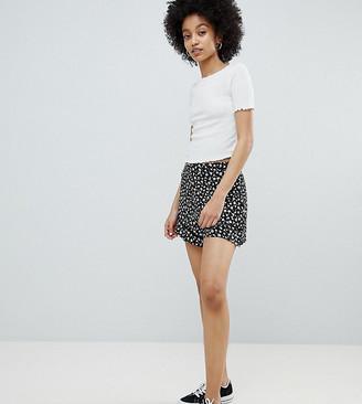 Miss Selfridge Ditsy Floral Print Shorts-Black
