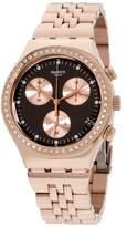 Swatch Irony YCG414G Rose Gold Tone Stainless Steel Quartz 40mm Womens Watch