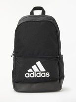 adidas Classic Badge of Sport Backpack, Black/White