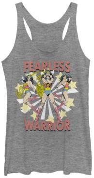 Fifth Sun Dc Wonder Woman Fearless Warrior Tri-Blend Women's Racerback Tank