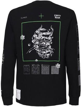 Elhaus Curves Print Jersey Long Sleeve T-Shirt