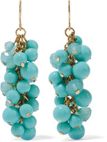Kenneth Jay Lane Gold-tone faux turquoise earrings