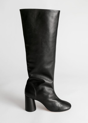 And other stories Gathered Slouch Leather Boots
