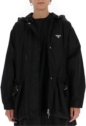 Prada Triangle Logo Hooded Jacket