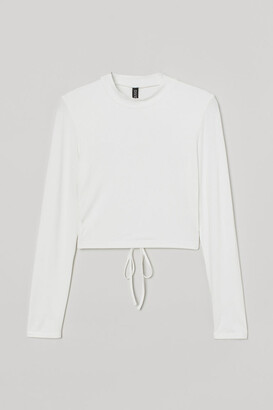 H&M Open-backed Top - White