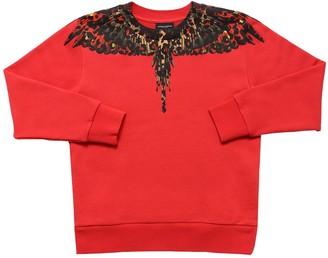 Marcelo Burlon County of Milan Leopard Wings Print Cotton Sweatshirt