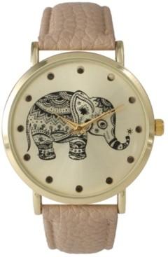 Olivia Pratt Artistic Elephant Leather Strap Watch