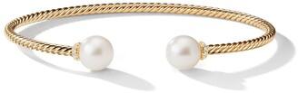 David Yurman 18kt yellow gold Solari diamond and pearl cuff