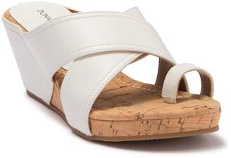 donald pliner gala suede wedge sandal