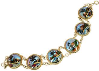 One Kings Lane Vintage 1950s Rio Butterfly Wing Bracelet - Neil Zevnik