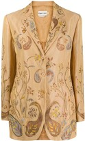 Romeo Gigli Pre Owned SS 1999 paisley embroidery slim-fit blazer