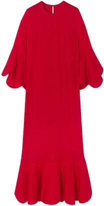 Valentino Ruffled Crepe Gown