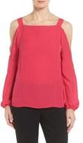 Elie Tahari Tahari Lindy Cold Shoulder Silk Blouse