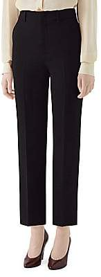 Gucci Women's Cady Crepe Straight-Leg Ankle Wool & Silk Trousers
