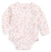 Aden Anais Infant Girl's Aden + Anais Long Sleeve Kimono Bodysuit