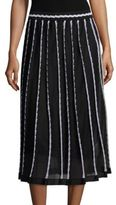 M Missoni Pleated Vertical Triangle Skirt
