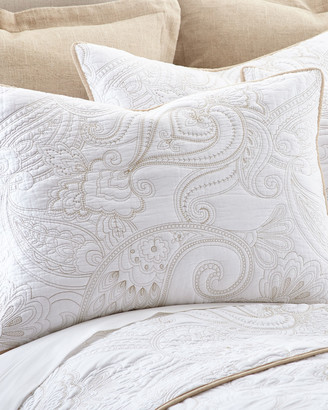 Levtex Perla White King Quilt Set