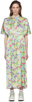 Les Rêveries Multicolor Floral Silk Dress