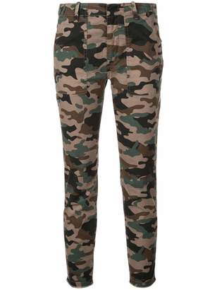 Nili Lotan Jenna Camo Print Cargo Pants
