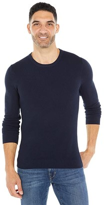 Michael Kors Mix Stitch Crew Neck Sweater (Dark Midnight) Men's Clothing