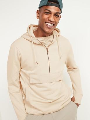 Old Navy Woven/Fleece Hybrid Half-Zip Hoodie for Men