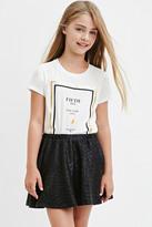 Forever 21 FOREVER 21+ Textured Metallic Skater Skirt (Kids)