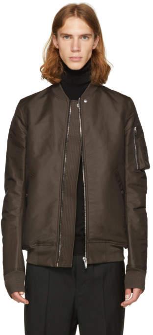 Rick Owens Grey Flight Bomber Jacket