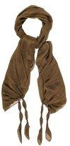 Thomas Wylde Embellished Silk Scarf