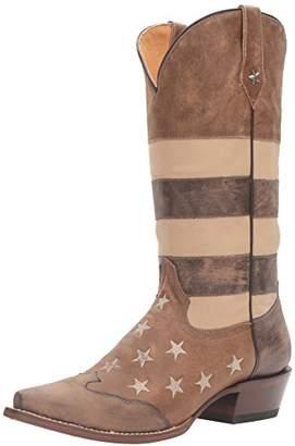 Roper Women's Vintage Americana Flag Work Boot D US