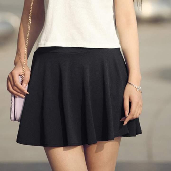 87c22dffbf Black High Waisted Skater Skirt - ShopStyle Canada