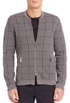 Emporio Armani Textured Zip-Front Cardigan