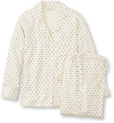 L.L. Bean Pima Cotton Flannel Pajama Set, Print