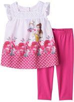 Disney Disney's Beauty & The Beast Belle, Mrs. Potts & Chip Girls 4-6x Blouse & Capri Leggings Set