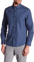 Kenneth Cole New York Long Sleeve Slim Fit Flannel Shirt