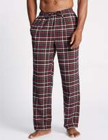 Marks and Spencer 2 Pack Pure Cotton Checked Pyjama Bottoms