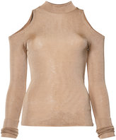 Balmain cut-out detail knitted top - women - Viscose - 36