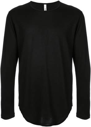 Attachment round neck jumper