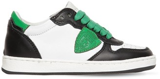 Philippe Model LAKERS LEATHER LACE-UP SNEAKERS