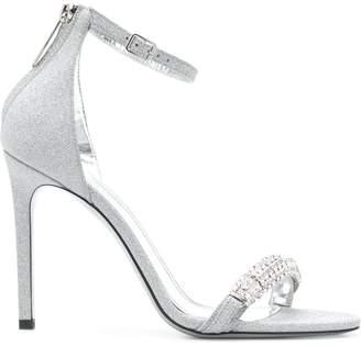 Calvin Klein high heel glitter sandals