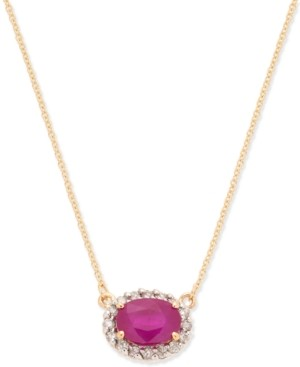 """Macy's Ruby (1-1/2 ct. t.w.) & Diamond Accent 18"""" Pendant Necklace in 14k Gold"""