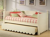 The Well Appointed House Scallop Day Bed with Pop Up Trundle-Available in Two Different Finishes